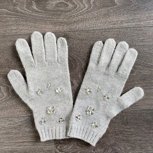 Banana republic Italian yarn gloves with crystal